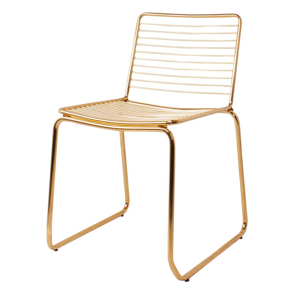silla dorada para salón